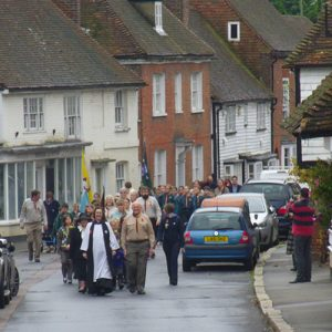 Community parade in Charing, Kent